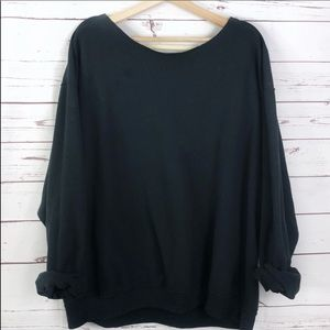 NEW Oversized Slouchy Sweatshirt loose fit black